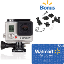 Deals List: GoPro HERO3 Silver+ Edition Action Camcorder with $50 Walmart Gift Card and Replacement Parts Kit Value Bundle