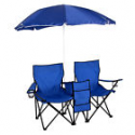 Deals List: Picnic Double Folding Chair w Umbrella Table Cooler Fold Up Chair