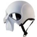 """Deals List: IV2 """"3D SKULL"""" Chopper, Cruiser, Beanie, Half Helmet Matte White Motorcycle Helmet [DOT] (L)"""