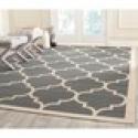 Deals List: Safavieh Indoor/ Outdoor Courtyard Anthracite/ Beige Rug (8' x 11')
