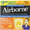 Deals List: Airborne Vitamin C 1000mg Immune Support Supplement, Effervescent Formula, Orange, 30 Count