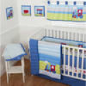 Deals List: Sumersault Choo Choo 10-Piece Crib Set
