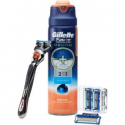 Deals List: Gillette Fusion Manual Razor Blade Refill Pack 4 Count With Shave Gel Subscription Pack, includes Free Handle