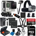 Deals List: GoPro HERO4 Black Edition + 2 battery + 32GB SD All In 1 Accessory Mount Bundle