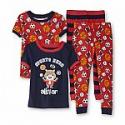 Deals List: Joe Boxer Infant & Toddler Boy's 2-Pairs Close Fit Pajamas - Sports