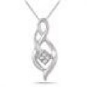 Deals List: Diamond Cluster Twist Pendant in .925 Sterling Silver