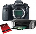 Deals List: Canon EOS 6D DSLR Camera Body + Canon PIXMA PRO-100 Photo Inkjet Printer + Canon SG-201 Photo Paper, 50 Sheets + New Leaf 1 Year Drops & Spills Extra Protection