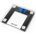 "Deals List: Mosiso® High Accuracy Digital Bathroom Scale with 4.3"" Blue Backlight Display and ""Smart Step-On"" Technology [NEWEST VERSION] (Black)"