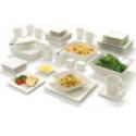 Deals List: 10 Strawberry Street Nova Square Banquet 45-Piece Dinnerware Set White Ivory