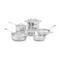Deals List: Cuisinart 44-10N Contour Stainless 10-Piece Cookware Set