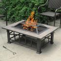 Deals List: Axxonn Rectangular Tile Top Fire Pit, Brownish Bronze