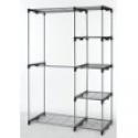 Deals List: Closet Organizer Storage Rack Portable Clothes Hanger Home Garment Shelf Rod G68