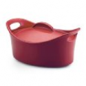 Deals List: Rachael Ray Stoneware 4-1/4-Quart Covered Bubble and Brown Casseroval Casserole, Red