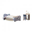 Deals List: Legare Surfer Blue and White Twin-Size Bed and Desk Set (2-Piece)