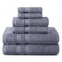 Deals List: 2 Pack Home Expressions 6-pc. Solid Bath Towel Set