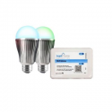Deals List: Bayit Home Automation 60W Equivalent Connected Home Color Changing LED Light Bulb Starter Kit (2-Pack)
