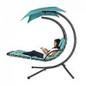 Deals List: Hanging Chaise Lounger Chair Arc Stand Air Porch Swing Hammock Chair Canopy Teal
