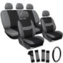 Deals List: 21pc Set Auto Car Seat Covers Wheel Cover + Head Rest + Floor Mats 1B