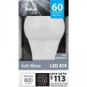 Deals List: Great Value LED Light Bulb 8.5W (60W Equivalent) A19 (E26), Soft White