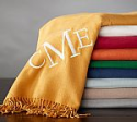 Deals List: Pottery Barn Monogrammable throw, in chestnut