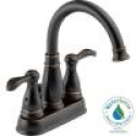 Deals List: Delta Porter 4 in. Centerset 2-Handle High-Arc Bathroom Faucet