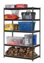 "Deals List: Edsal URWM184872BK Black Steel Storage Rack, 5 Adjustable Shelves, 4000 lb. Capacity, 72"" Height x 48"" Width x 18"" Depth"