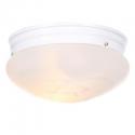 Deals List: Bel Air Lighting 2-Light White Mushroom Flush Mount with Marbleized Glass
