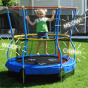 "Deals List: Skywalker Bounce-N-Learn 55"" Round Trampolines with Safety Enclosure"