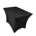 Deals List: LinenTablecloth 4 ft. Rectangular Stretch Tablecloth Black