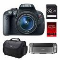 Deals List: Canon EOS 70D DSLR Camera Body + Printer + Paper + Bag