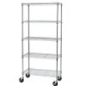 Deals List: 5 Shelf Chrome Steel Wire Shelving 30 by 14 by 60-Inch Storage Rack W/Wheels 605