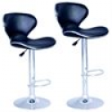 Deals List: Sets of 2 Modern Adjustable Synthetic Leather Swivel Bar Stools Chairs