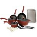 Deals List: New Paula Deen 15-Piece Kitchen Porcelain Cookware Set Nonstick Pots Pans