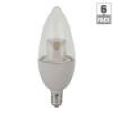 Deals List: TCP 25W Equivalent Daylight B10 Blunt Tip Candelabra Deco Dimmable LED Light Bulb (6-Pack)