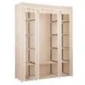 "Deals List: 53"" Portable Closet Storage Organizer Wardrobe Clothes Rack With Shelves"