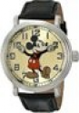 "Deals List: Disney Men's 56109 ""Vintage Mickey Mouse"" Watch with Black Leather Band"