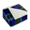 Deals List: Martha Stewart Collection Faux-Sherpa Reversible Micromink Throw