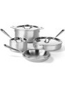 Deals List: All-Clad 700393 MC2 Professional Master Chef 2 Stainless Steel Tri-Ply Bonded Cookware Set, 7-Piece, Silver