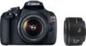 Deals List: Canon Rebel T5 EF-S 18-55mm IS II & EF 50mm f/1.8 II Kit Refurb