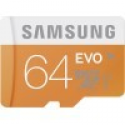 Deals List: Samsung - 64GB microSD Class 10 UHS-1 Memory Card - Orange ,MB-MP64DA/BBY