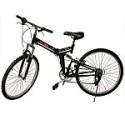 "Deals List: New 26"" Folding 6 Speed Mountain Bike Bicycle Shimano School Sport Black"