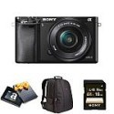 Deals List: Sony Alpha a6000 Mirrorless Digital Camera with 16-50mm Power Zoom Lens Holiday Bundle + $50 GC