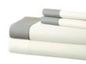 Deals List: 400TC 100% Cotton Sheet Set with Contrast Hem