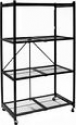 Deals List: Origami R5-01W General Purpose 4-Shelf Steel Collapsible Storage Rack with Wheels, Large