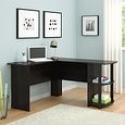Deals List: Altra Dakota L-Shaped Desk with Bookshelves, Dark Russet Cherry