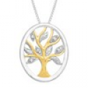 Deals List: 1/10 ct Diamond Filigree Necklace Sterling Silver