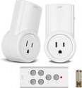 Deals List: Etekcity Wireless Remote Control Electrical Outlet Switch for Household Appliances, White (Learning Code, 2Rx-1Tx)