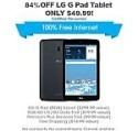 Deals List: Certified PreOwned Freedom Pop LG G Pad + 2GB 4G/3G Data (1 month trial)