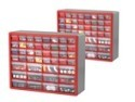 Deals List: Akro-Mils 10744A 44-Drawer Hardware & Craft Cabinets 2-Pack, Red and Gray