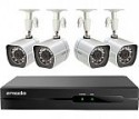 Deals List: Zmodo - 4-Channel, 4-Camera Indoor/Outdoor High-Definition NVR Security System, ZM-SS714-1TB